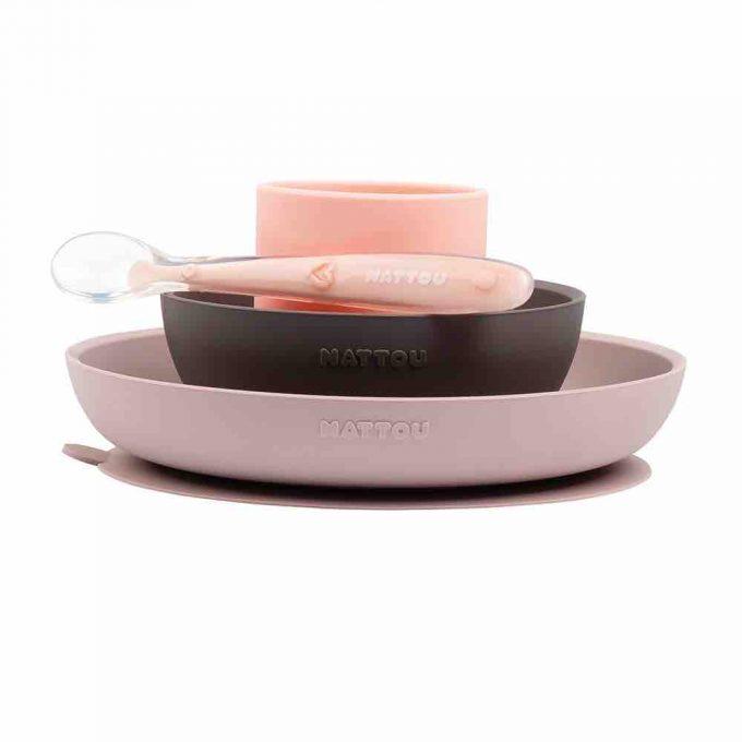 Nattou set pappa rosa